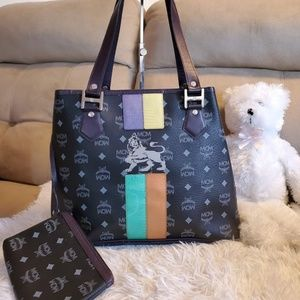 MCM tote and pouch set